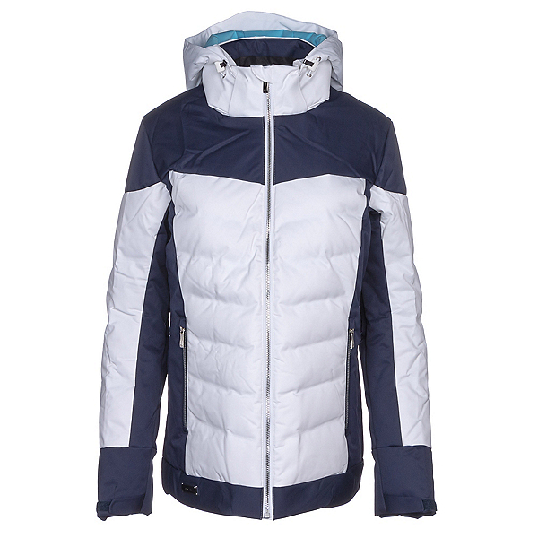 Descente Hayden Womens Insulated Ski Jacket, Super White-Dark Night, 600