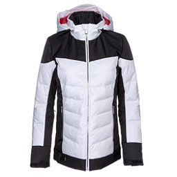 Descente Hayden Womens Insulated Ski Jacket, Super White-Black, 256