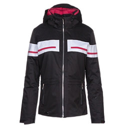 Descente Quincy Womens Insulated Ski Jacket, Black-Crimson Pink, 256