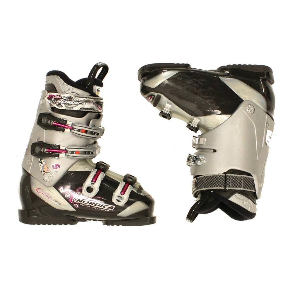 Used Womens Nordica Cruise S Ski Boot Black Gray