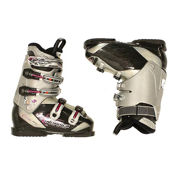 Used Womens Nordica Cruise S Ski Boots Black Gray SALE, , 600