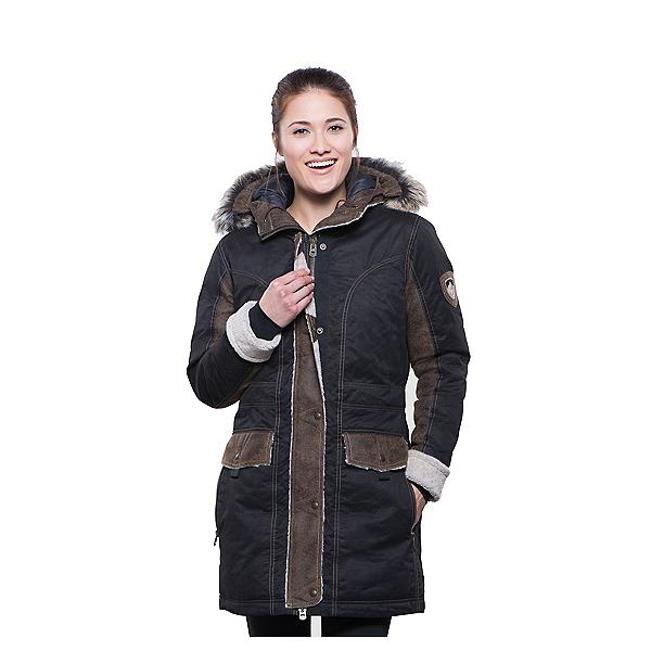 KUHL Arktik w/Faux Fur Parka Womens Jacket, Raven, 600