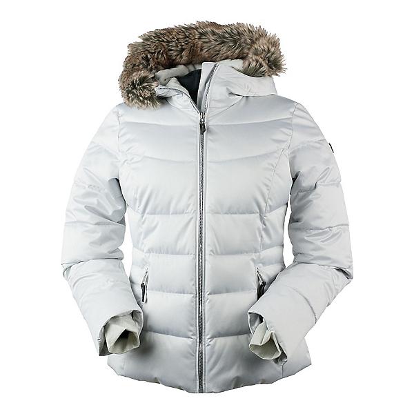 Obermeyer Bombshell w/Faux Fur Womens Insulated Ski Jacket, Ceramic, 600