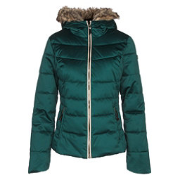 Obermeyer Bombshell w/Faux Fur Womens Insulated Ski Jacket, Glamp Green, 256