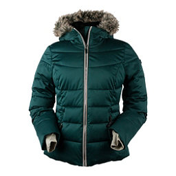 Obermeyer Bombshell Petite w/Faux Fur Womens Insulated Ski Jacket, Glamp Green, 256