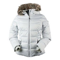 Obermeyer Bombshell Petite w/Faux Fur Womens Insulated Ski Jacket, Ceramic, 256
