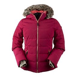 Obermeyer Bombshell Petite w/Faux Fur Womens Insulated Ski Jacket, Sangria, 256
