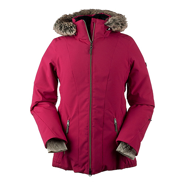 Obermeyer Siren w/Faux Fur Womens Insulated Ski Jacket, Sangria, 600