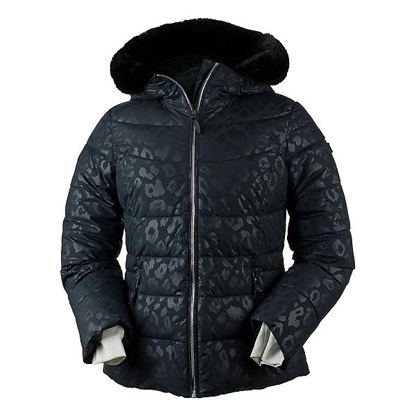 Obermeyer Bombshell Print w/Faux Fur Womens Insulated Ski Jacket, Dark Leopard, 600