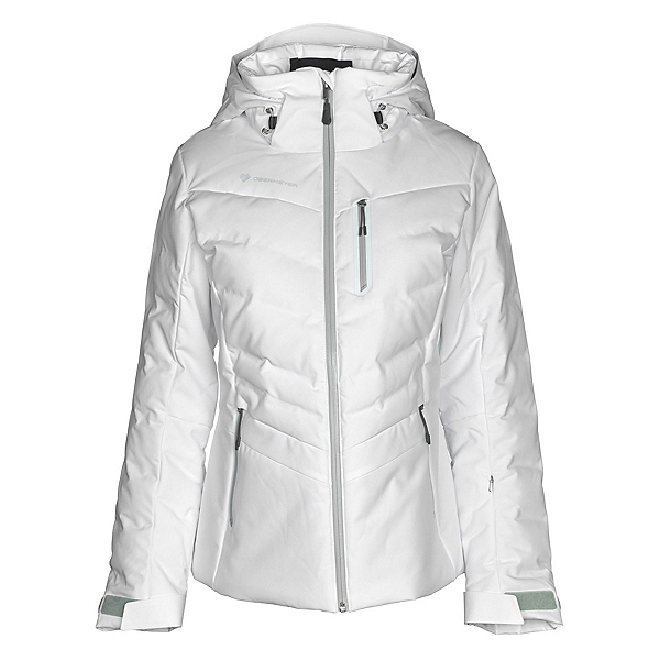 Obermeyer Cosima Down Womens Insulated Ski Jacket, White, 600