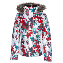 Obermeyer Tuscany w/Faux Fur Womens Insulated Ski Jacket, Snow Fire Floral, 256