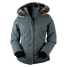 Obermeyer Tuscany w/Faux Fur Womens Insulated Ski Jacket, Charcoal, 256