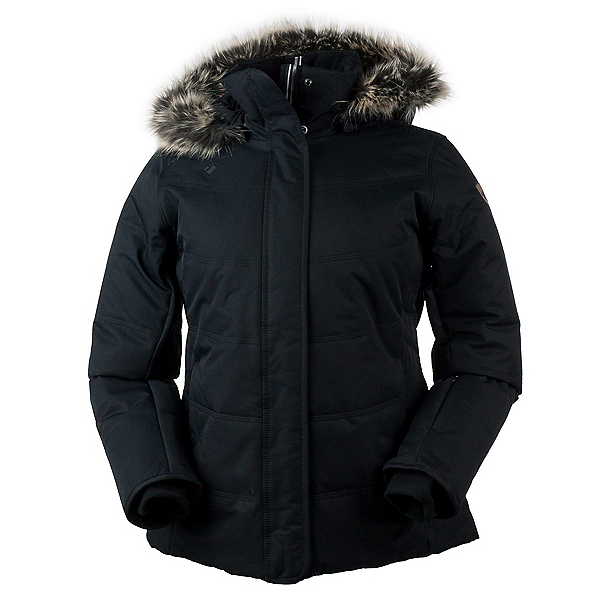 Obermeyer Tuscany w/Faux Fur Womens Insulated Ski Jacket, Black, 600
