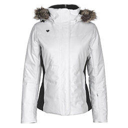 Obermeyer Tuscany w/Faux Fur Womens Insulated Ski Jacket, White, 256