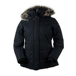 Obermeyer Tuscany Petite w/Faux Fur Womens Insulated Ski Jacket, Black, 256