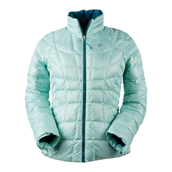 Obermeyer Soleil Reversible Down Insulator Womens Jacket, Sea Glass, 600