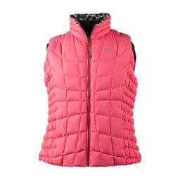 Obermeyer Soleil Reversible Down Womens Vest, Wild Leopard, 256