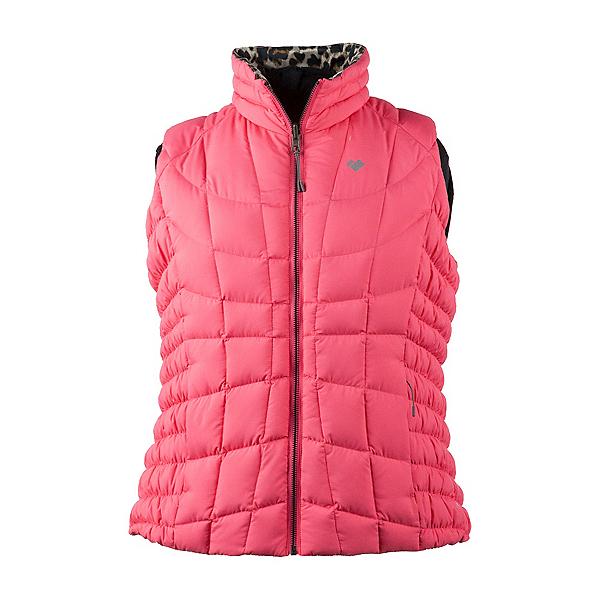 Obermeyer Soleil Reversible Down Womens Vest, Wild Leopard, 600