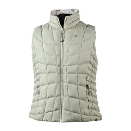 Obermeyer Soleil Reversible Down Womens Vest, Linen Its Snowing Roses, 256