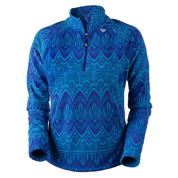 Obermeyer Siena Fleece Top Womens Mid Layer, Polar Blue Artisan Print, 600