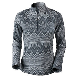 Obermeyer Siena Fleece Top Womens Mid Layer, Ebony Artisan Print, 256