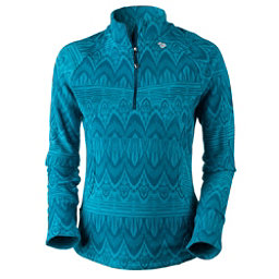 Obermeyer Siena Fleece Top Womens Mid Layer, Mermaid Artisan Print, 256