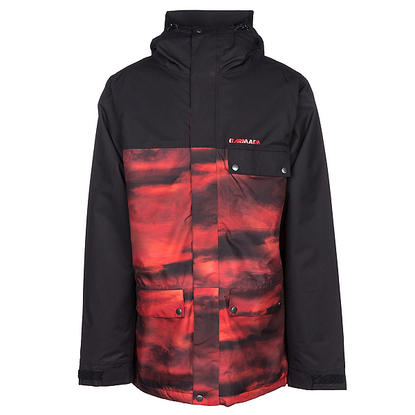 Armada Emmett Mens Insulated Ski Jacket, Black, 600