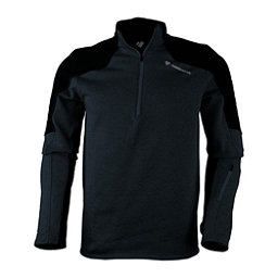 Obermeyer Semishell 1/4 Zip Mens Mid Layer, Black, 256