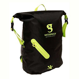 Geckobrands Waterproof Light Backpack 2017, Black-Bright Green, 256