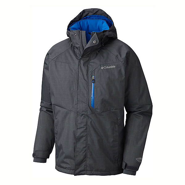 Columbia Alpine Action Big Mens Insulated Ski Jacket 2020, Graphite-Super Blue, 600