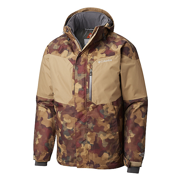 Columbia Alpine Action Tall Mens Insulated Ski Jacket 2019, Delta Blurred Camo, 600
