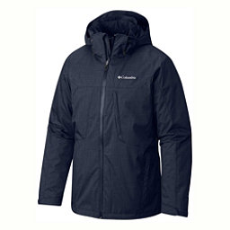 Columbia Whirlibird Interchange Tall Mens Insulated Ski Jacket, Collegiate Navy-Texture Print, 256