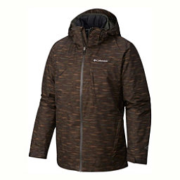 Columbia Whirlibird Interchange Big Mens Insulated Ski Jacket, Gravel-Texture Print, 256