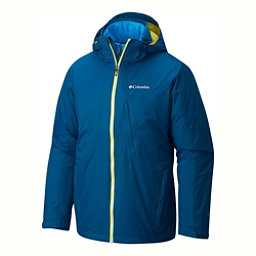 Columbia Whirlibird Interchange Big Mens Insulated Ski Jacket, Phoenix Blue-Acid Yellow, 256