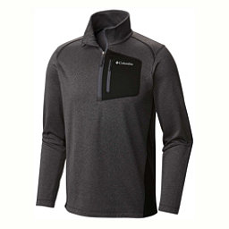 Columbia Jackson Creek Half Zip Mens Mid Layer, Black Heather, 256