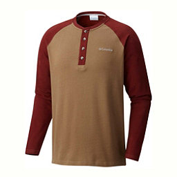 Columbia Ward River Henley Mens Mid Layer, Trail-Deep Rust, 256