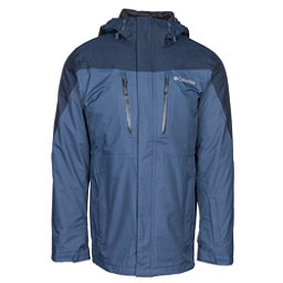 Columbia Calpine Interchange Mens Insulated Ski Jacket, Dark Mountain-Collegiate Navy, 256