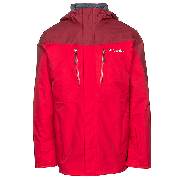 Columbia Calpine Interchange Mens Insulated Ski Jacket, Mountain Red-Beet, 600