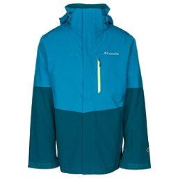 Columbia Wild Card Interchange Mens Insulated Ski Jacket, Dark Compass-Phoenix Blue, 256