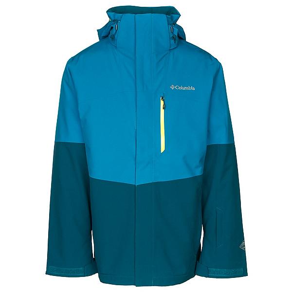 Columbia Wild Card Interchange Mens Insulated Ski Jacket, Dark Compass-Phoenix Blue, 600