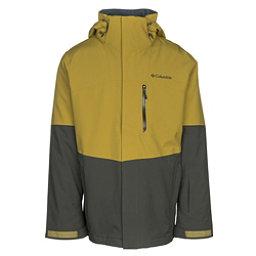 Columbia Wild Card Interchange Mens Insulated Ski Jacket, Peppercorn-Gravel, 256