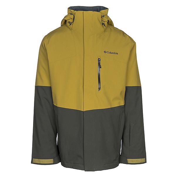 Columbia Wild Card Interchange Mens Insulated Ski Jacket, Peppercorn-Gravel, 600