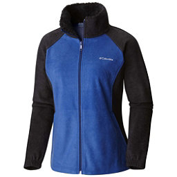 Columbia Dotswarm II Fleece Full Zip Womens Jacket, Black-Dynasty, 256