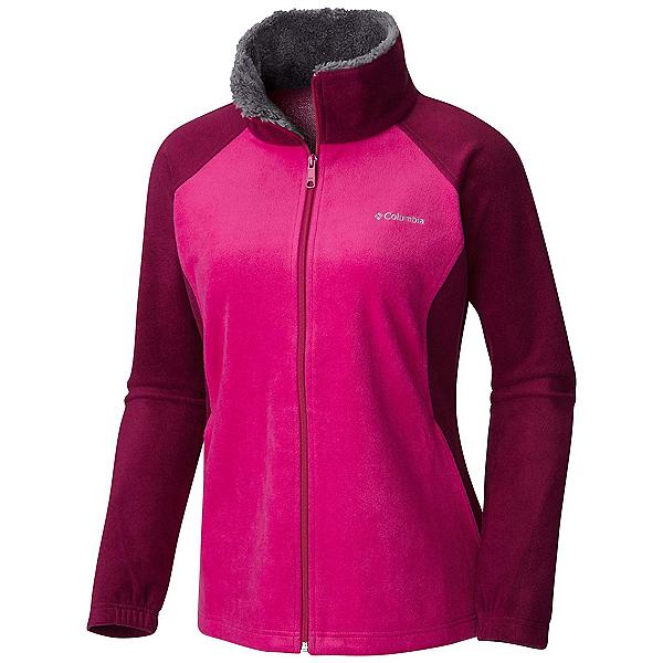 Columbia Dotswarm II Fleece Full Zip Womens Jacket, Dark Raspberry-Deep Blush, 600