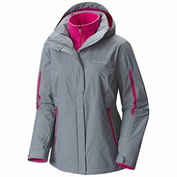 Columbia Bugaboo Interchange Plus Womens Insulated Ski Jacket, Grey Ash-Deep Blush, 256