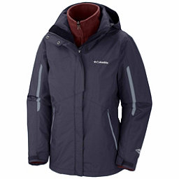Columbia Bugaboo Interchange Plus Womens Insulated Ski Jacket, India Ink-Grey Ash, 256