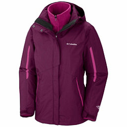 Columbia Bugaboo Interchange Plus Womens Insulated Ski Jacket, Dark Raspberry-Deep Blush, 256