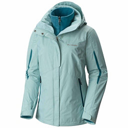 Columbia Bugaboo Interchange Plus Womens Insulated Ski Jacket, Aqua Haze-Aegean Blue, 256
