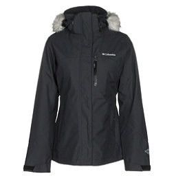 Columbia Lhotse Interchange w/Faux Fur Womens Insulated Ski Jacket, Black, 256