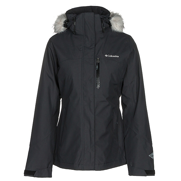 Columbia Lhotse Interchange w/Faux Fur Womens Insulated Ski Jacket, Black, 600